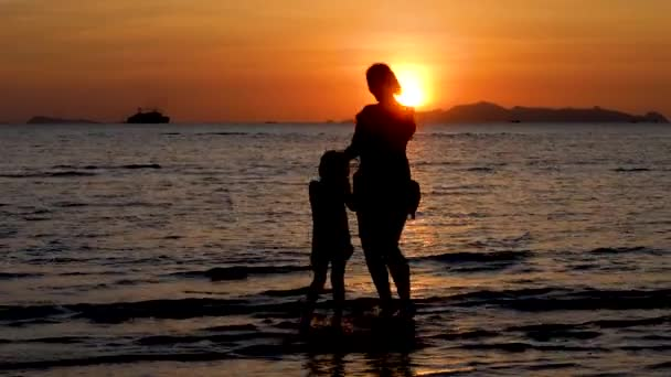 Female Silhouette on Dramatic Sunset