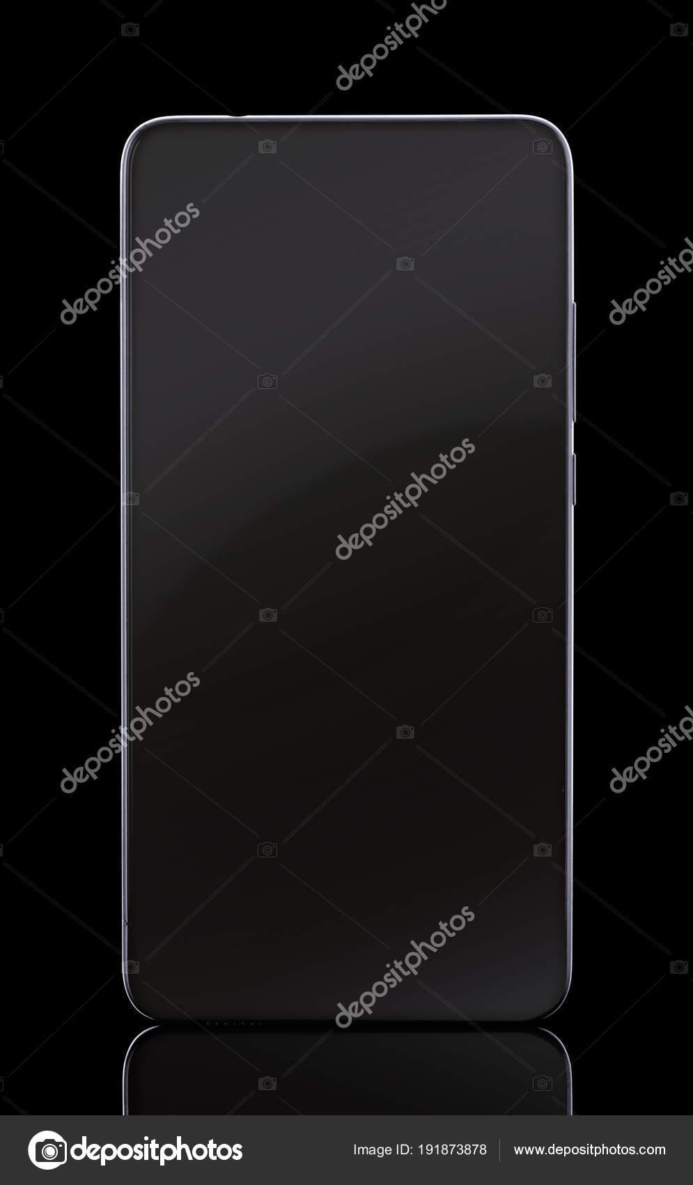 Mobile Cellulare Smartphone Con Contorno Bianco E Riflessione