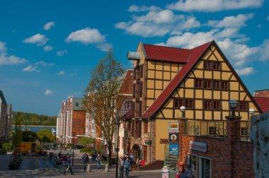 Old houses on Rostock city street