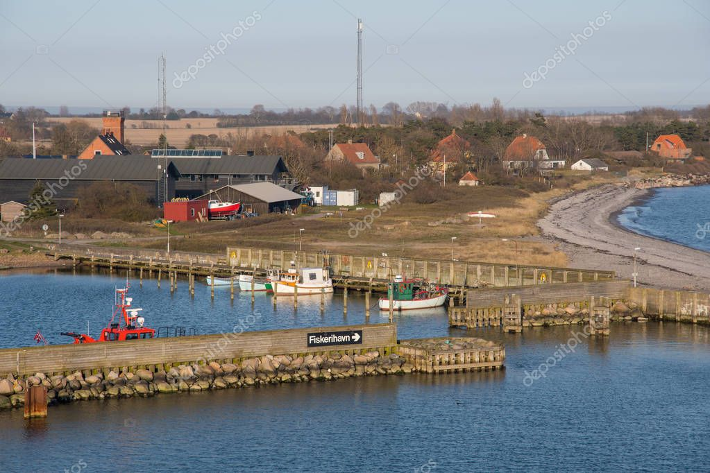 Port of town of Gedser