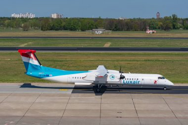 Bombardier Dash 8 Q400 from Luxair at Berlin Tegel Airport