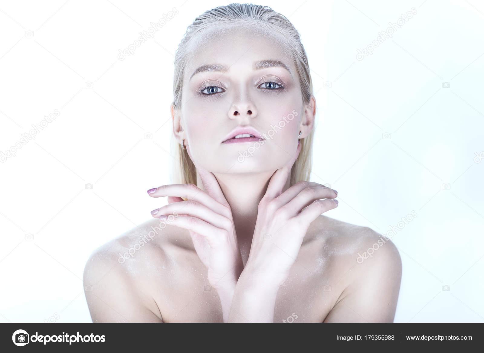 Blonde naakt model