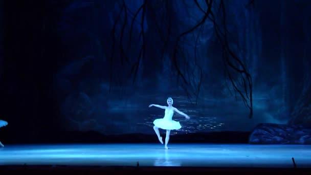 Dněpr, Ukrajina - 17 března 2018: Balet Labutí jezero prováděné Dněpr státní opery a baletu