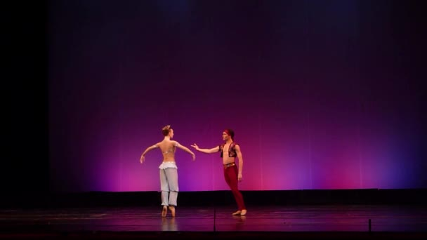 A Hotel Dnipro, Ukrajna - 2018. március 23.: Corsair balett tagjai a nemzeti balett, a Dnipro állami Opera és balett Színház előadásában.