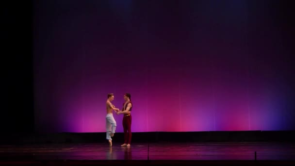 Dněpr, Ukrajina - 23. března 2018: Corsair balet prováděné členy národního baletu v Dněpru státní opery a baletu.