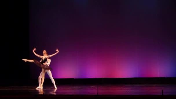Dněpr, Ukrajina - 23. března 2018: Balet Labutí jezero prováděné členy národního baletu v Dněpru státní opery a baletu.