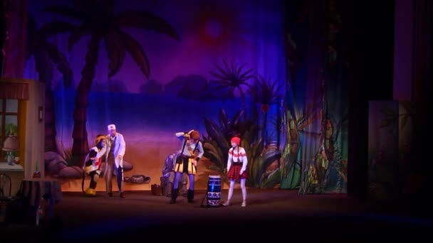 DNIPRO, UKRAINE - NOVEMBER 17, 2019:  Incredible Adventures of Ksyusha in dreamland performed by members of the Dnipro State Drama and Comedy Theatre.
