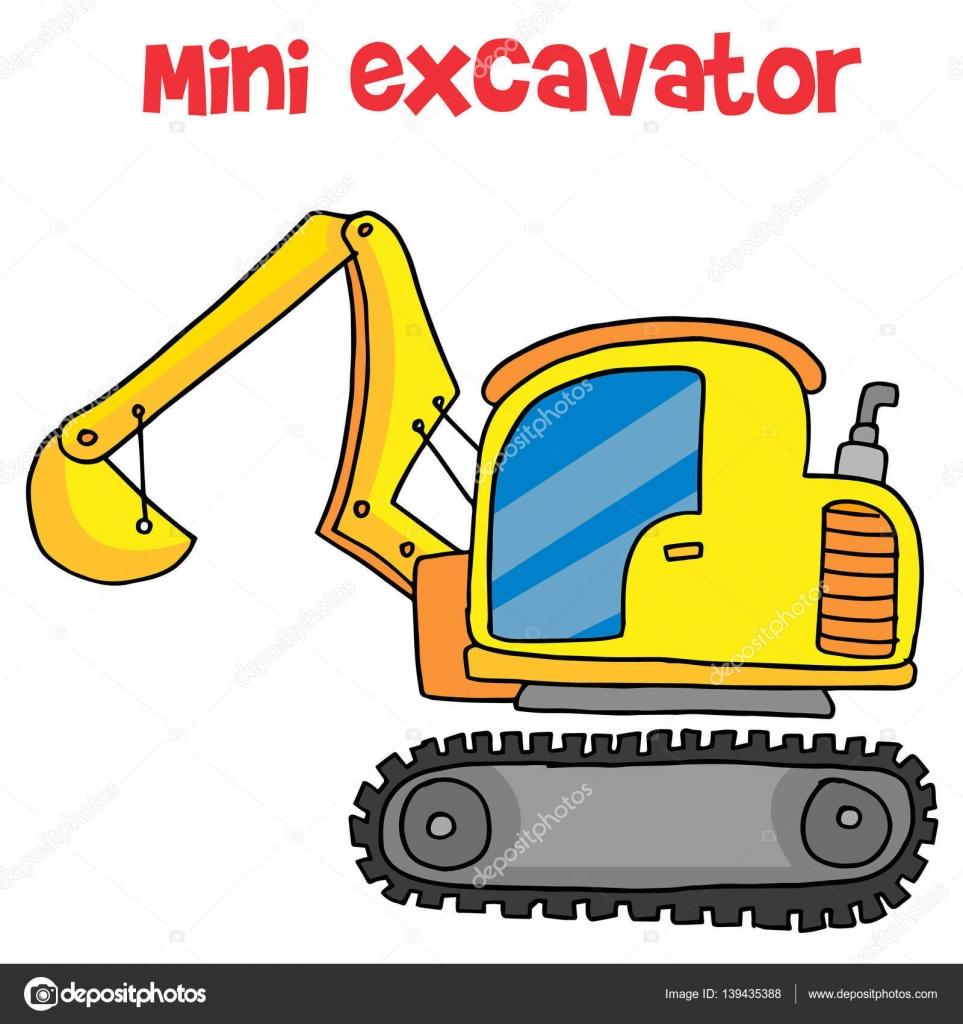 Vecteur de dessin anim jaune mini pelle image vectorielle kongvector 139435388 - Pelle mecanique dessin anime ...