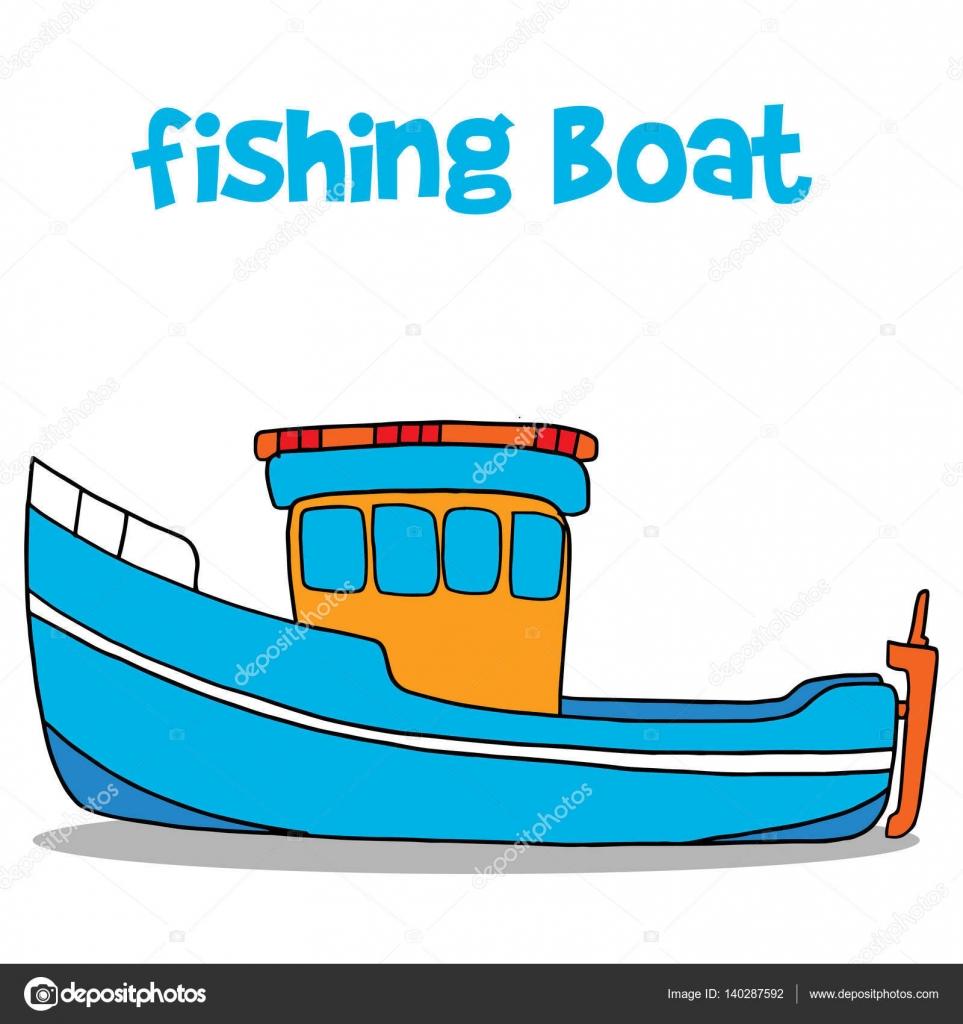 fishing boat cartoon vector art stock vector kongvector 140287592 rh depositphotos com cartoon fishing boat images cartoon man fishing in boat