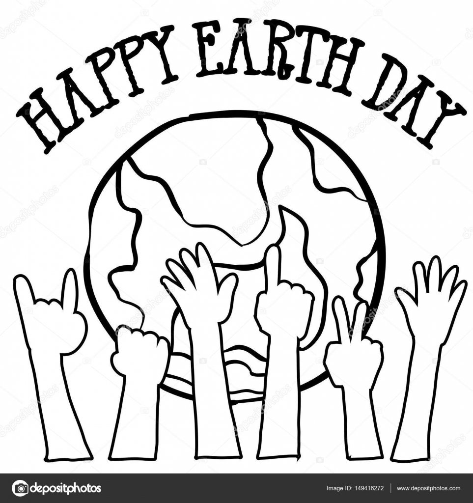 Collection Of World Hand Draw Earth Day Stock Vector C Kongvector