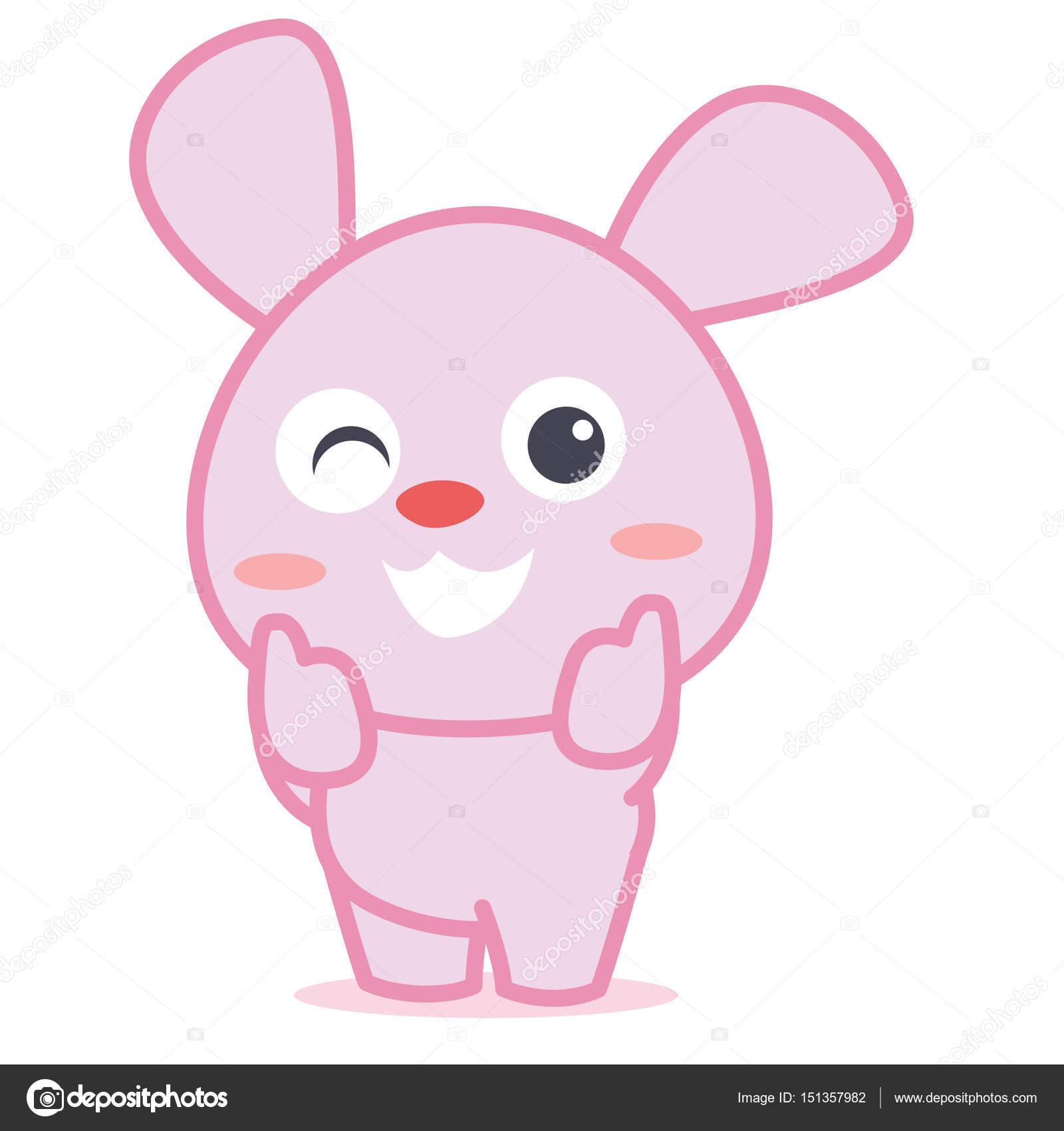 desenho de personagem elias coelho vetor de stock kongvector