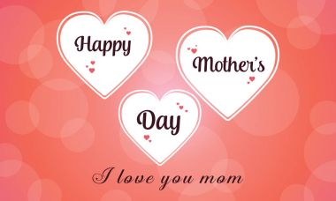 Happy mother day collection stock
