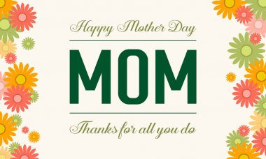Happy mother day style vector illustration