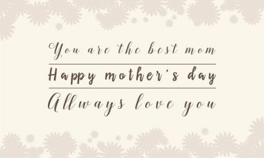 Collection stock of mother day background