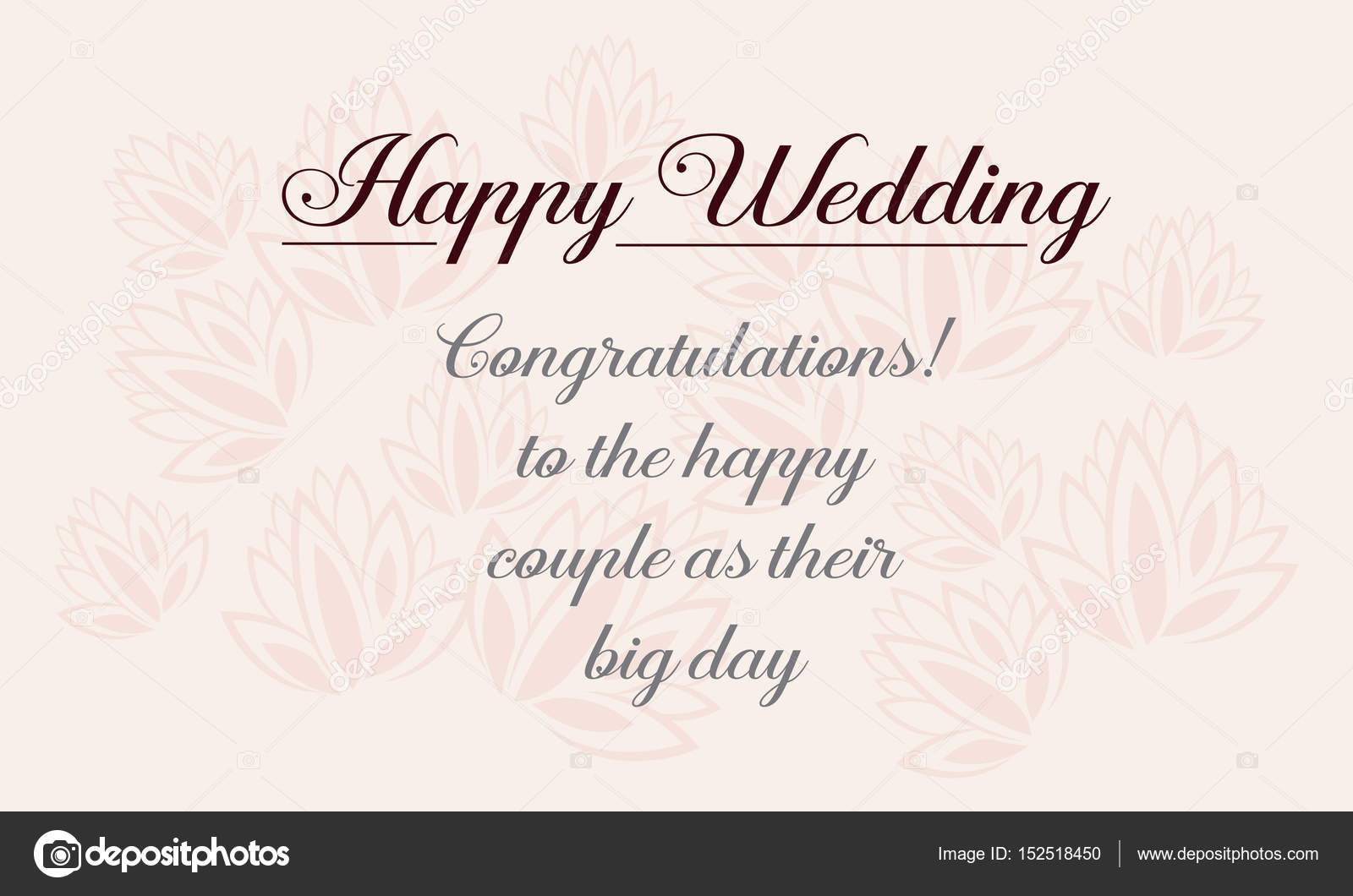 Happy Wedding Greeting Card Design Style Stock Vector Kongvector