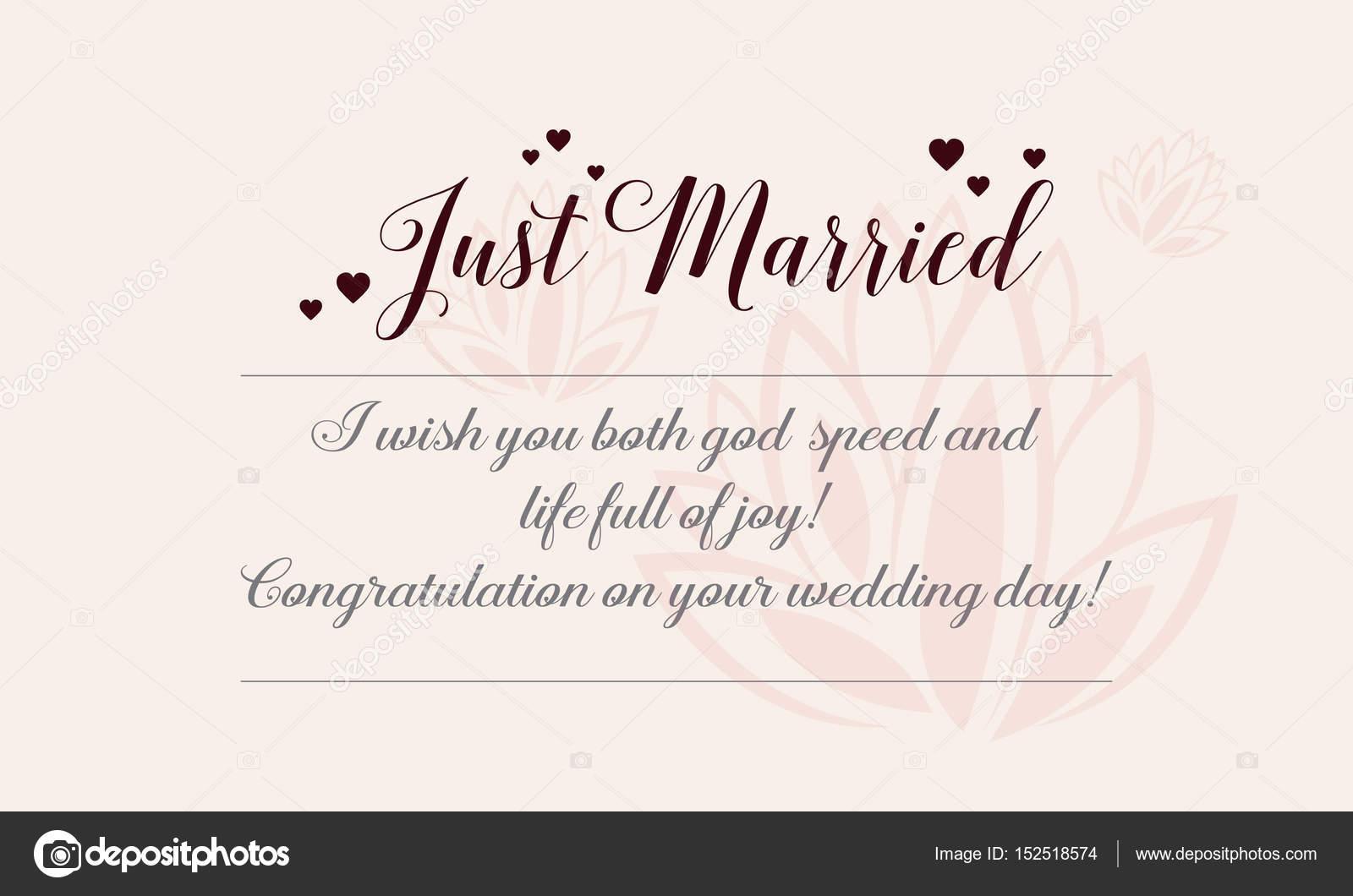 Happy wedding greeting card romantic theme stock vector happy wedding greeting card romantic theme stock vector m4hsunfo