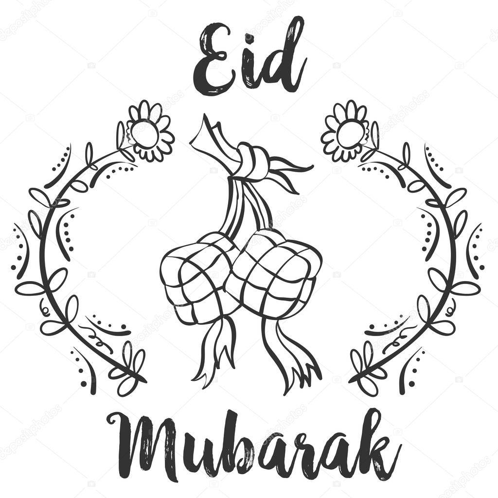 Greeting card for Eid Mubarak — Stock Vector © kongvector ...