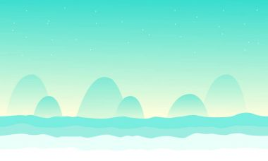 Collection desert for game background