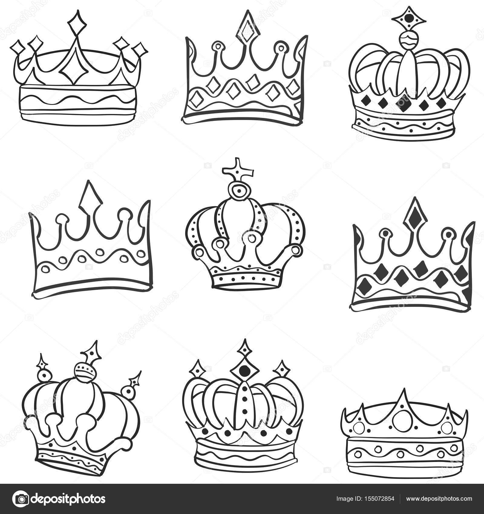 Imágenes Coronas De Reyes Y Reinas Para Colorear Doodle