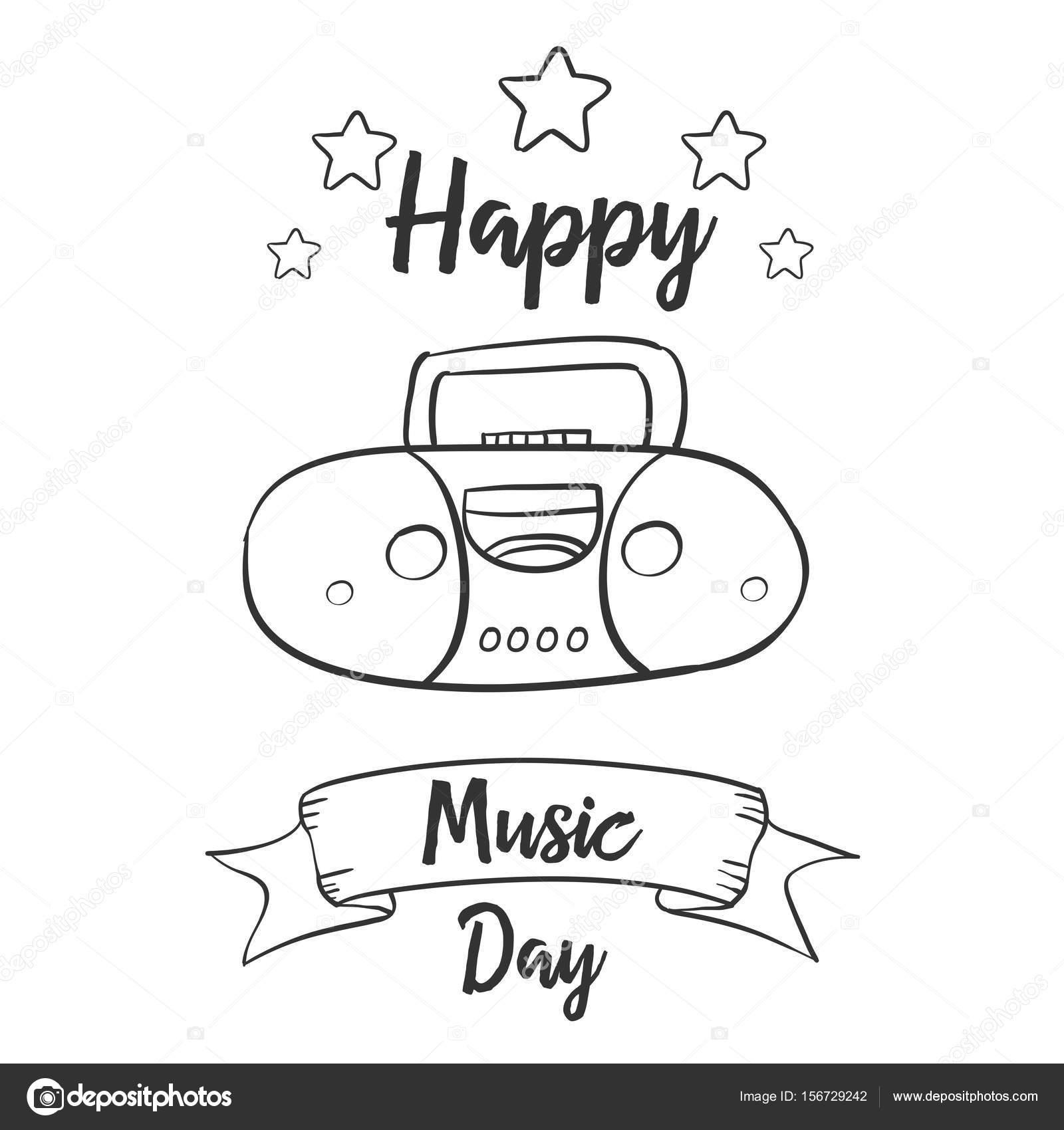 Dibujos Musica Para Dibujar Mano Dibujar Arte Vector Música