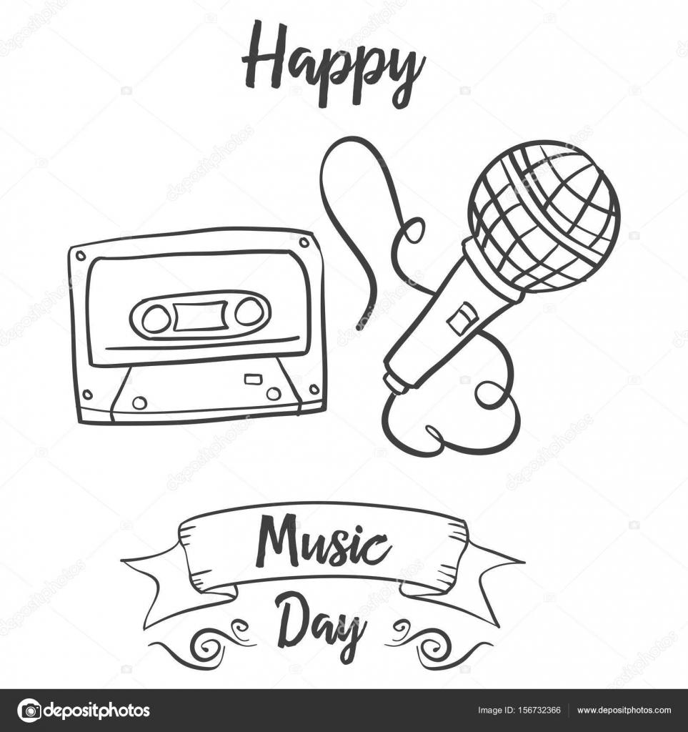 Dibujos Musica Para Dibujar Mano Dibujar Estilo Doodle De Música