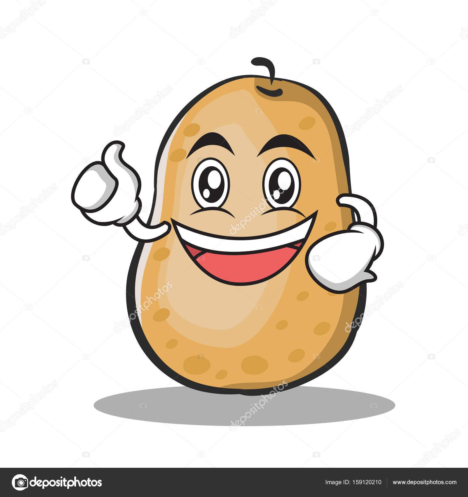 Estilo De Dibujos Animados De Carácter Entusiasta De La Patata