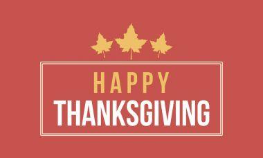 Thanksgiving card vector flat design