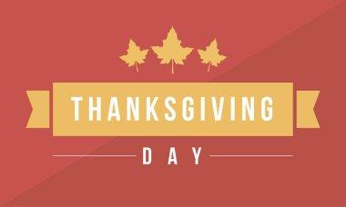 Thanksgiving da vector flat background