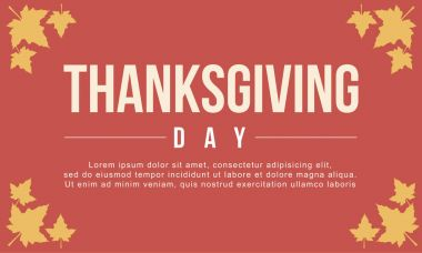 Thanksgiving day background vector flat