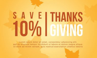 Thanksgiving sale vector flat collection