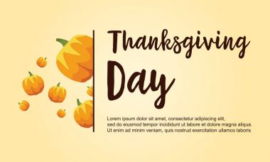 Thanksgiving day collection stock card
