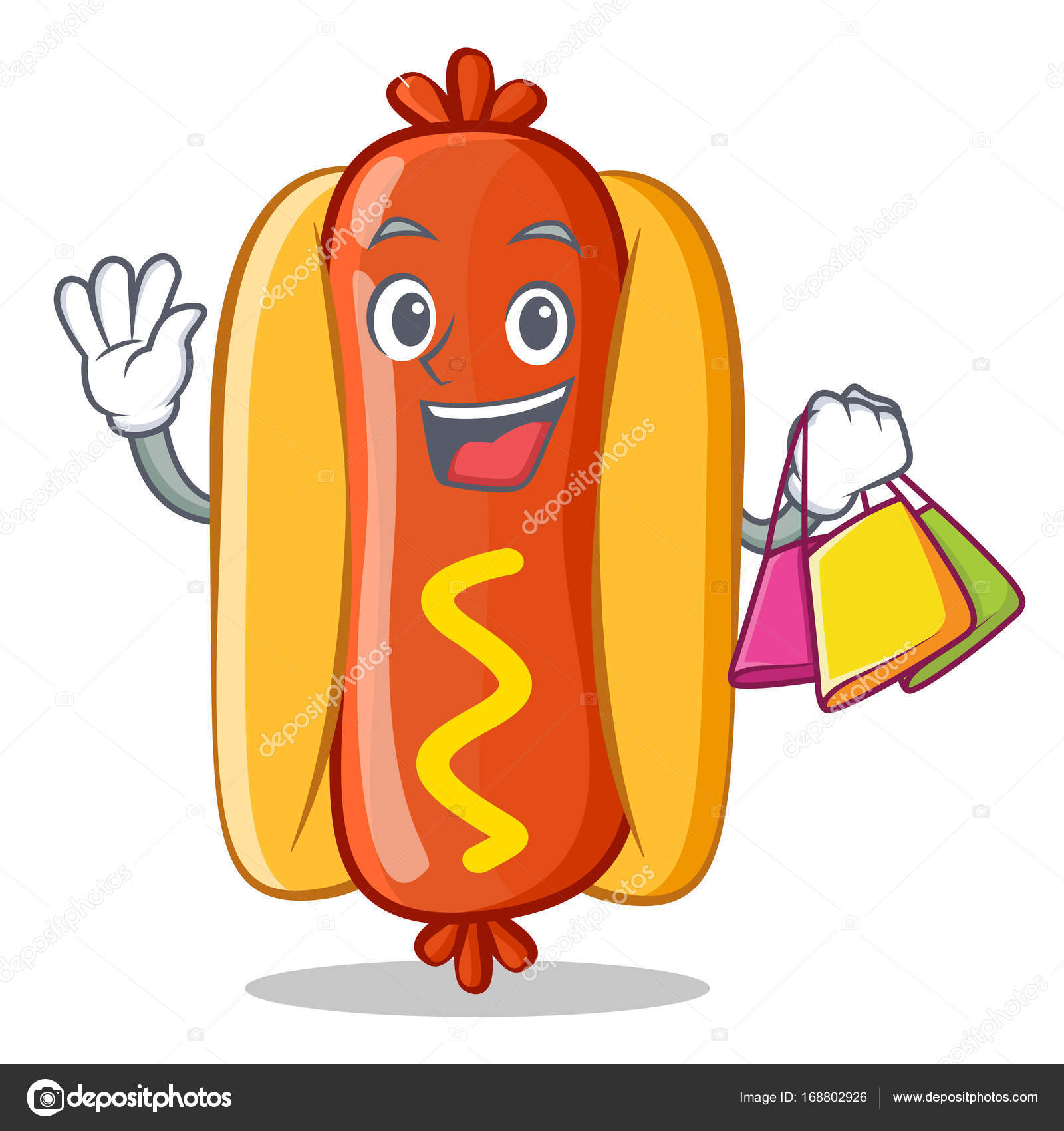 Personaje De Dibujos Animados De Hot Dog Comercial Vector De Stock