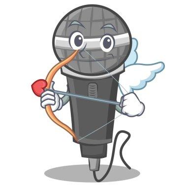 Cupid microphone cartoon character design