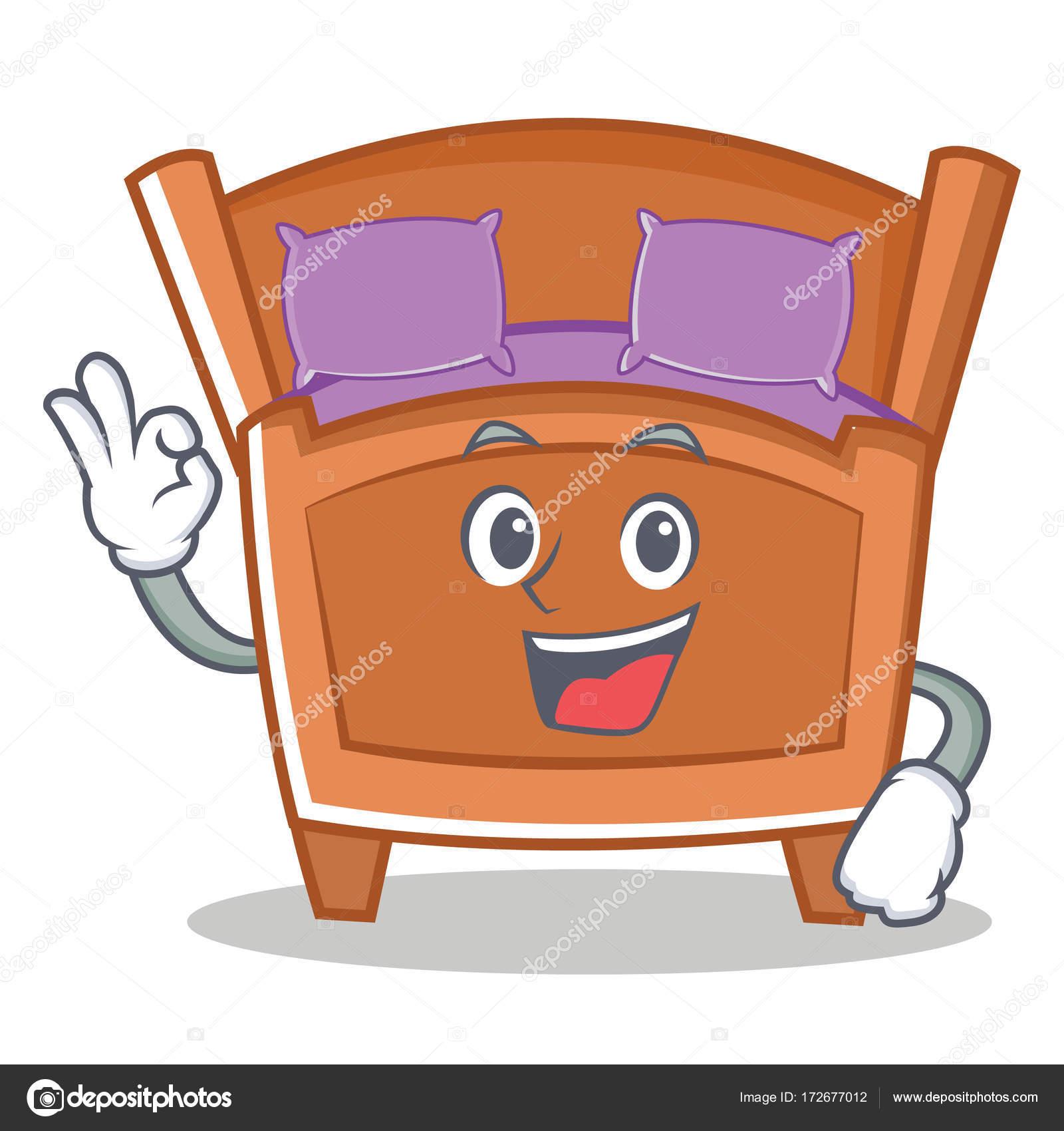 Okay Susse Bett Charakter Cartoon Stockvektor C Kongvector 172677012