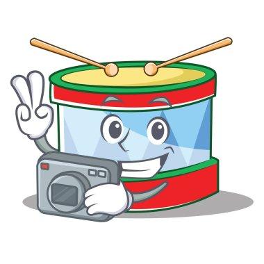 Photographer toy drum character cartoon