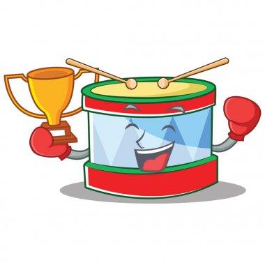Boxing winner toy drum character cartoon