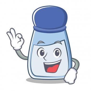 Okay salt character cartoon style