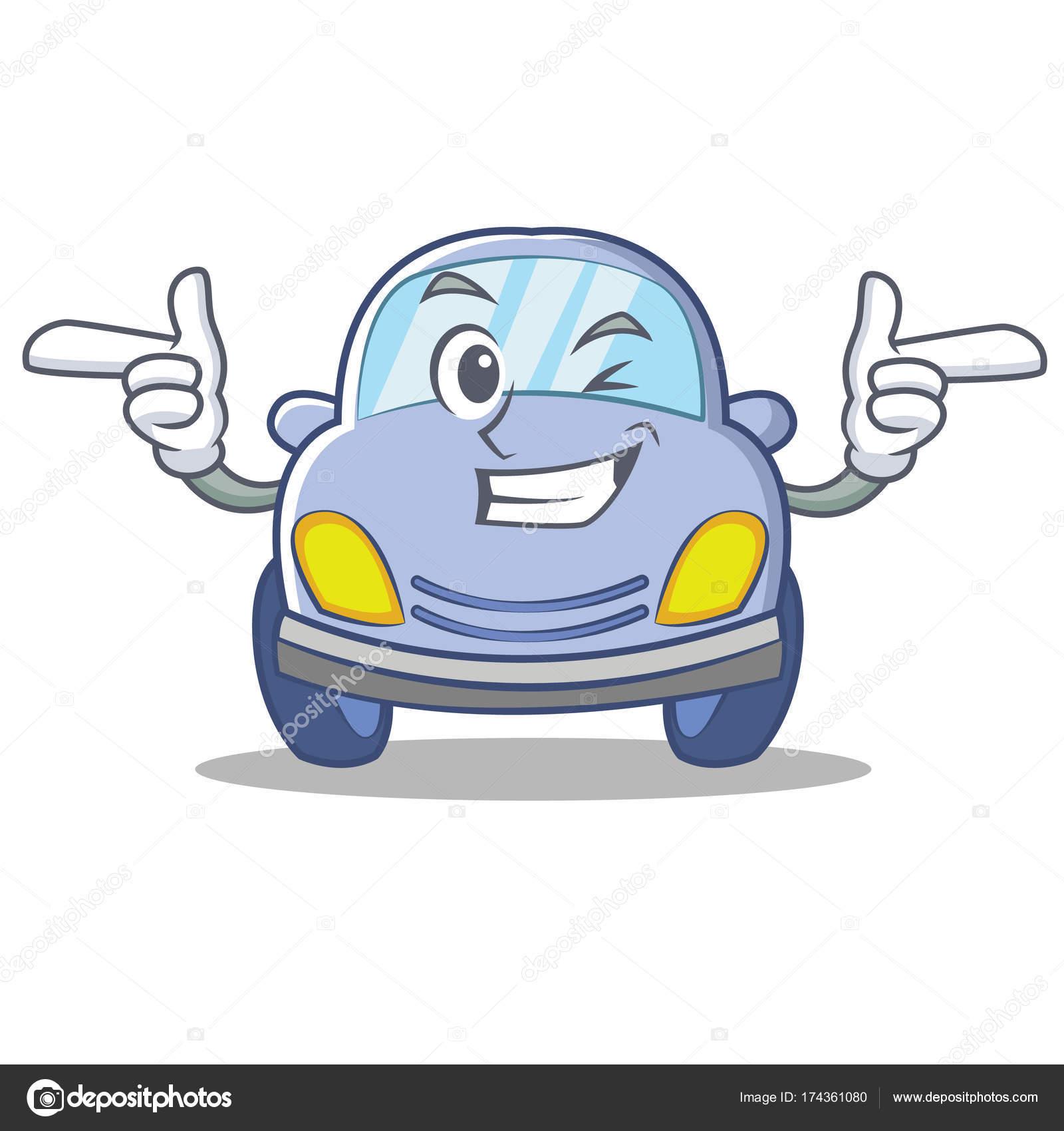 ウインクかわいい車文字漫画 ストックベクター Kongvector 174361080