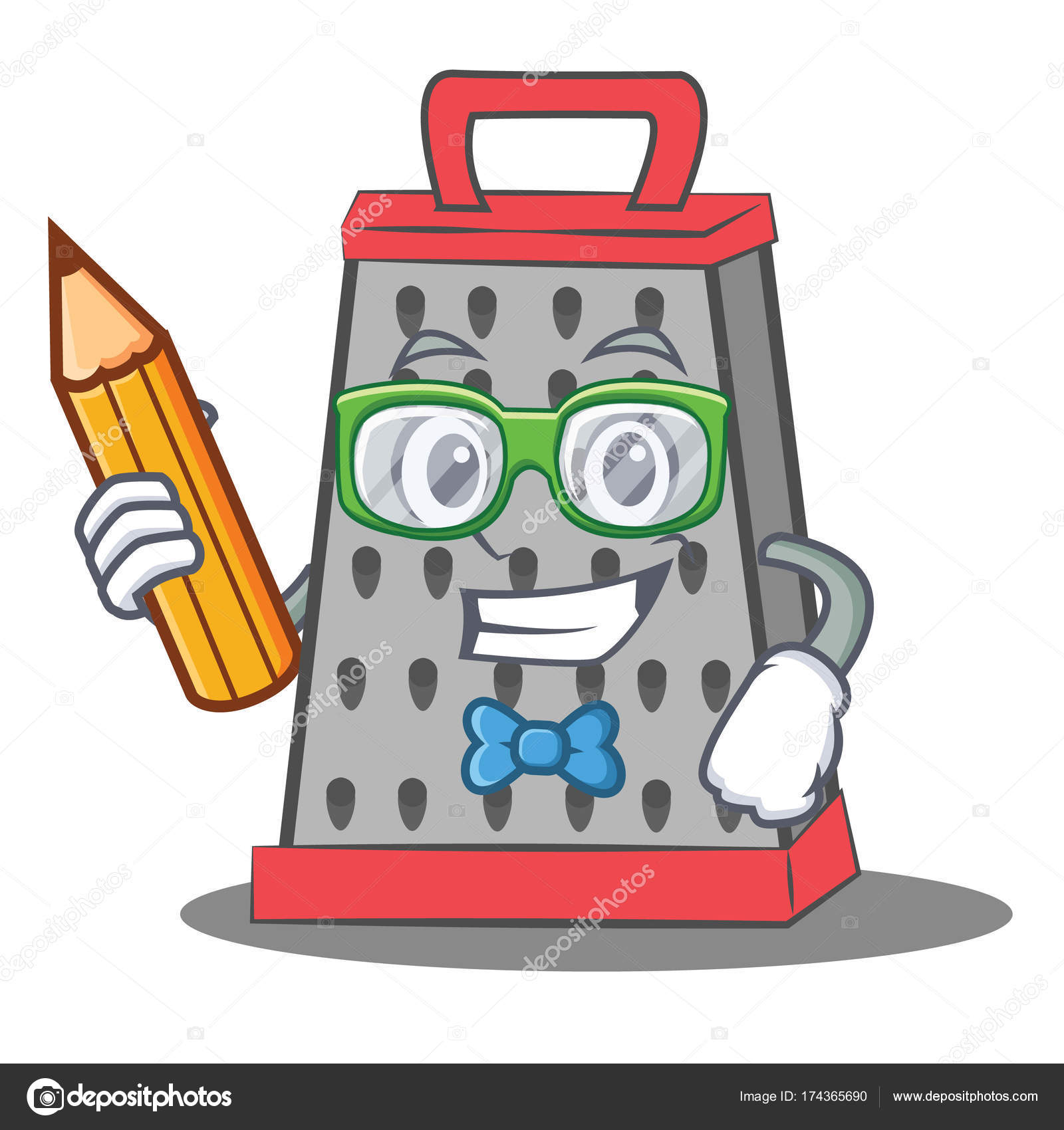 Student Küche Reibe Charakter cartoon — Stockvektor © kongvector ...