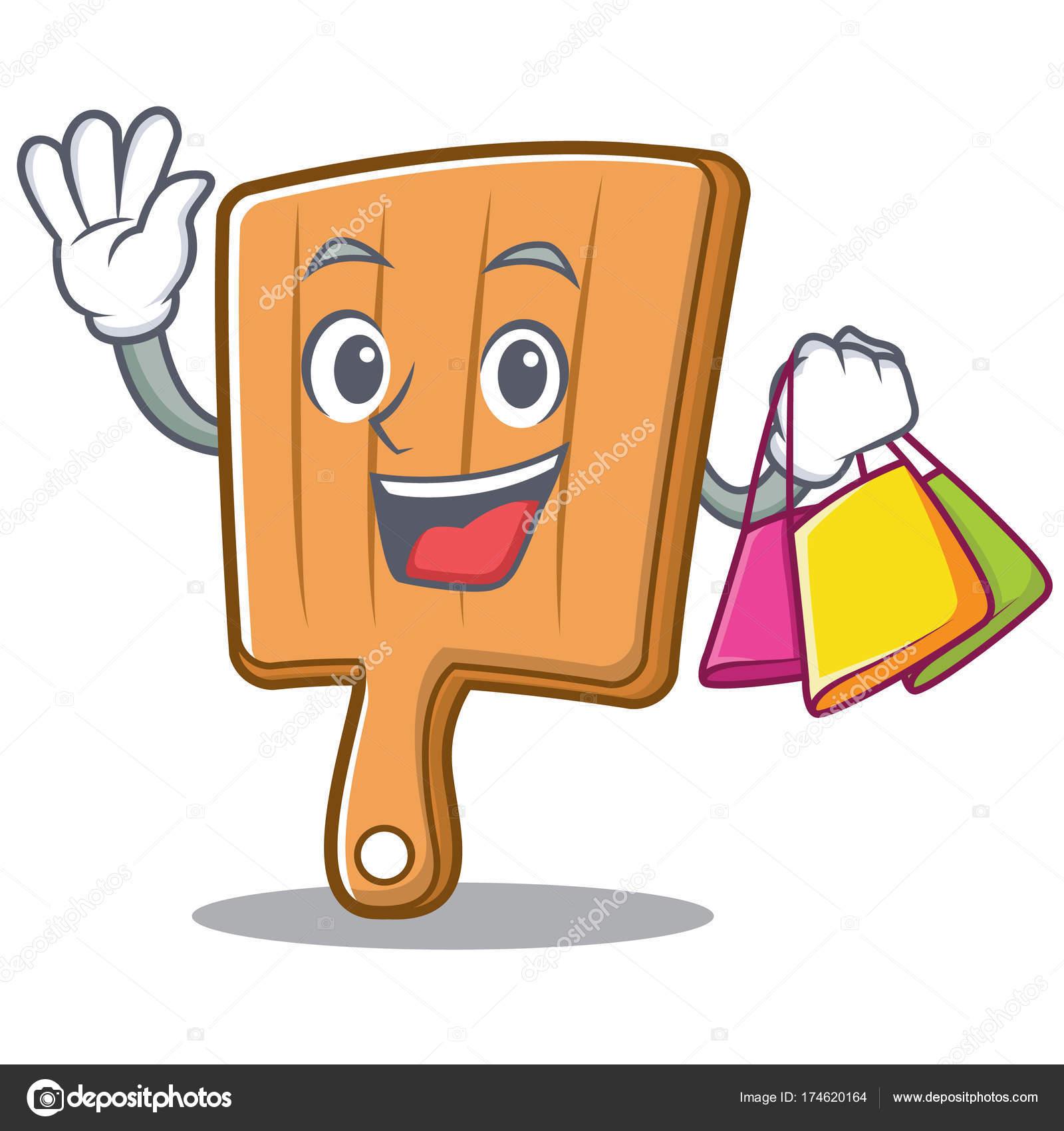 Einkaufen Küche Board Charakter cartoon — Stockvektor © kongvector ...