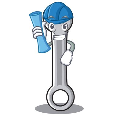 Architect spanner character cartoon style