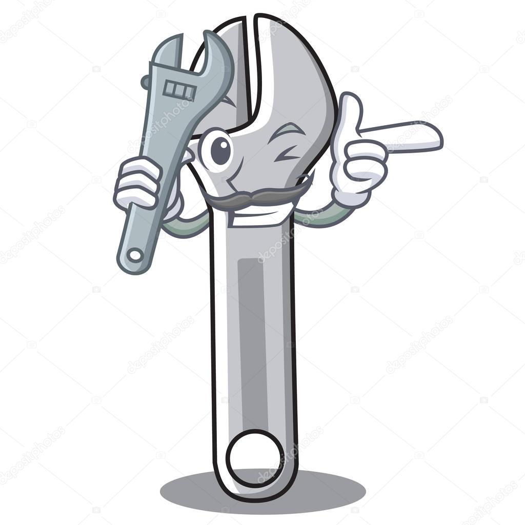 Style de dessin animé de caractère clé mécanique — Image ...