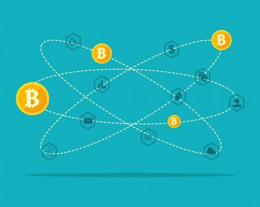 Design block chain background collection