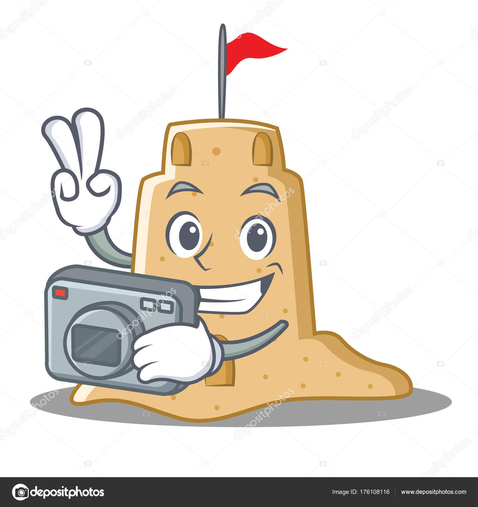 Sandburg malen  Fotograf-Sandburg-Charakter-Cartoon-Stil — Stockvektor © kongvector ...