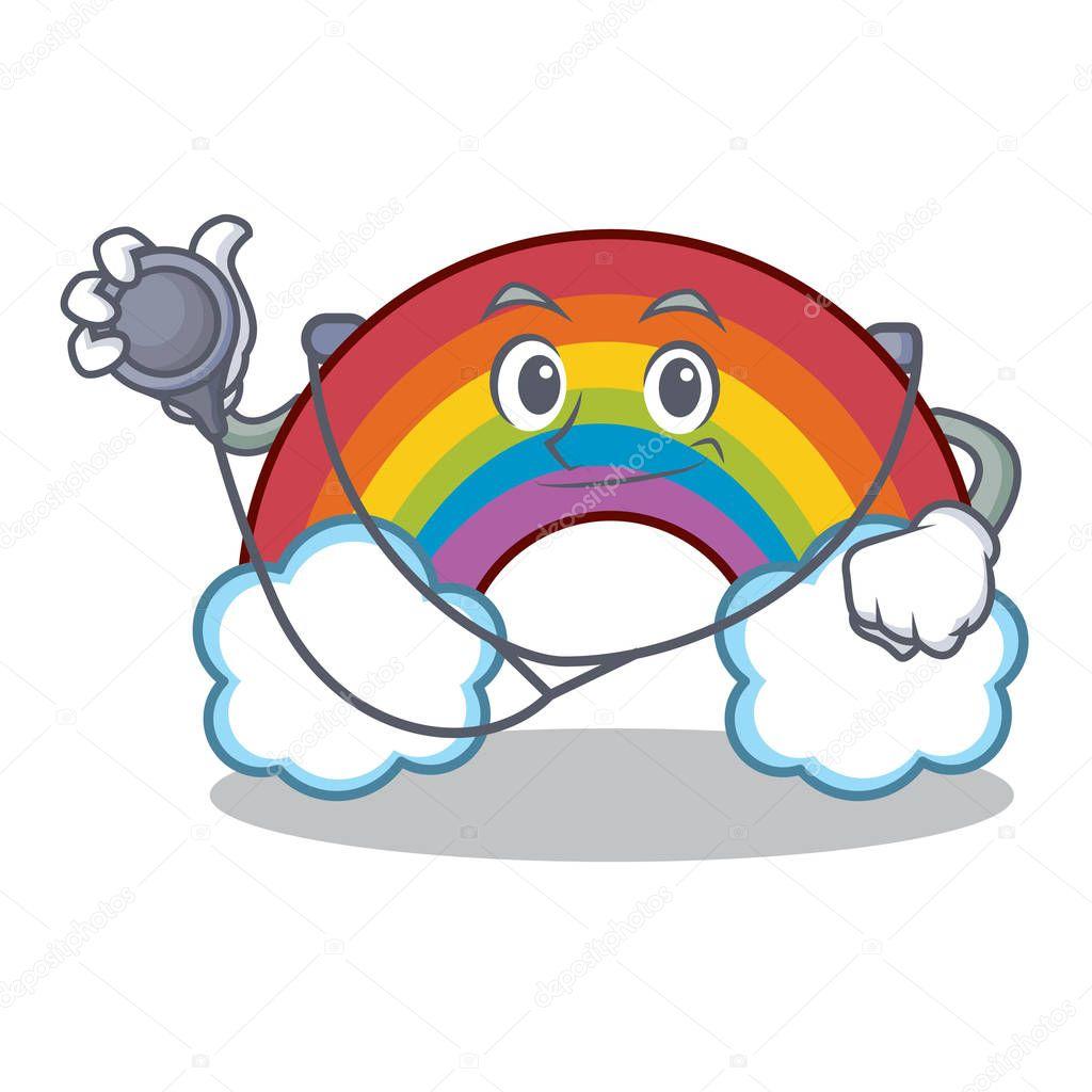 Doctor colorful rainbow character cartoon