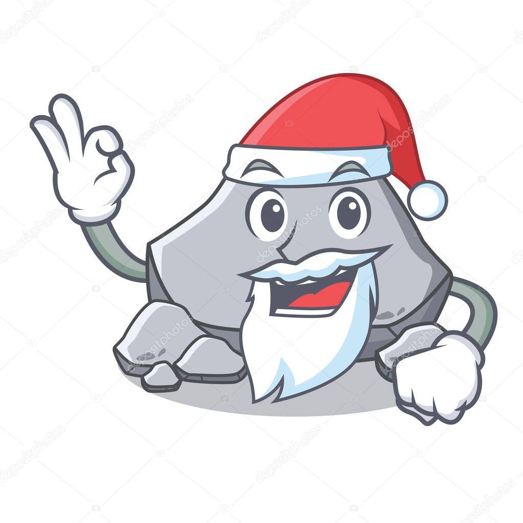 Santa stone character cartoon style