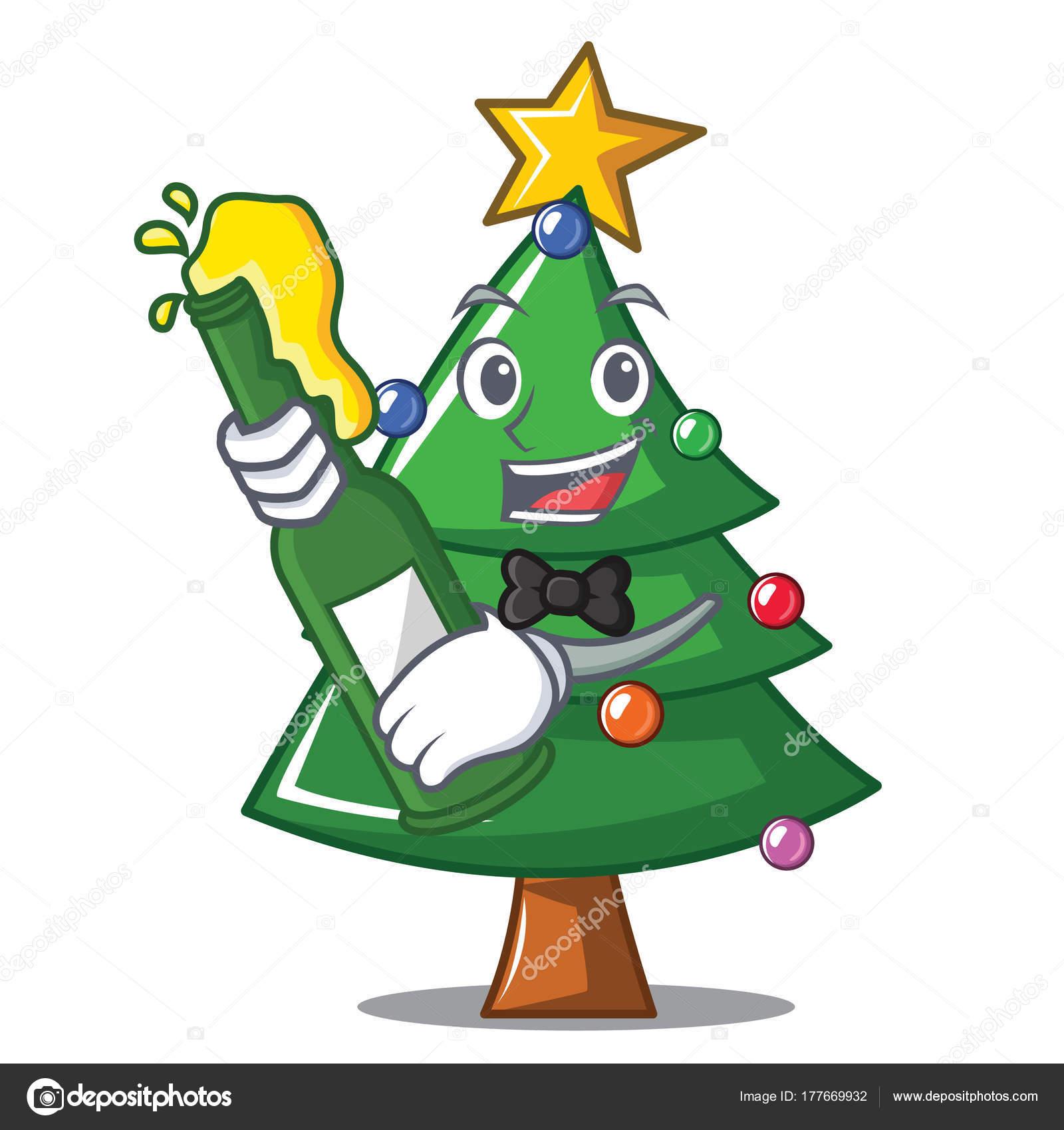 Bier Weihnachtsbaum.Mit Bier Weihnachtsbaum Charakter Cartoon Stockvektor Kongvector