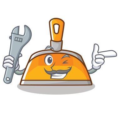 Mechanic dustpan character cartoon style