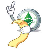 With menu Ethereum classic character cartoon