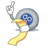 With menu OmesiGo coin character cartoon